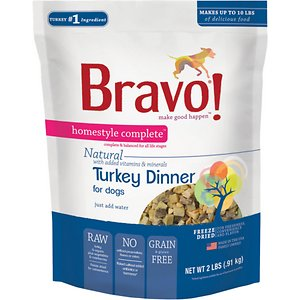 Bravo! Homestyle Complete Turkey Dinner Grain-Free Freeze-Dried Dog Food