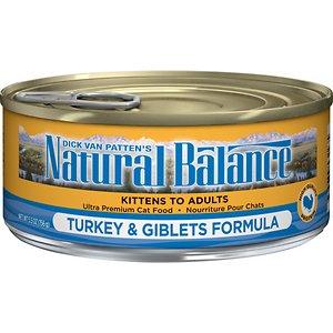 Natural Balance Ultra Premium Turkey & Giblets Formula Canned Cat Food