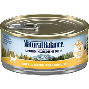 Natural Balance L.I.D. Limited Ingredient Diets Duck & Green Pea Formula Grain-Free Canned Cat Food