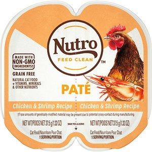 Nutro Perfect Portions Grain-Free Chicken & Shrimp Paté Recipe Cat Food Trays