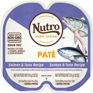 Nutro Perfect Portions Grain-Free Salmon & Tuna Paté Recipe Cat Food Trays