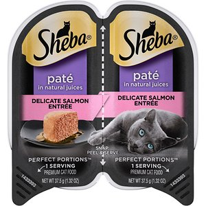 Sheba Perfect Portions Grain-Free Delicate Salmon Entree Cat Food Trays