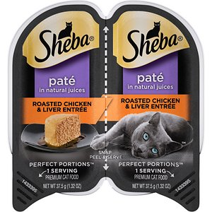 Sheba Perfect Portions Grain-Free Roasted Chicken & Liver Entree Cat Food Trays