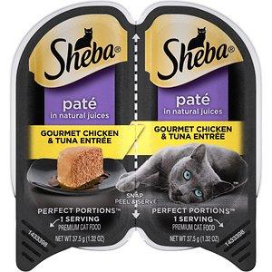 Sheba Perfect Portions Grain-Free Gourmet Chicken & Tuna Entree Cat Food Trays
