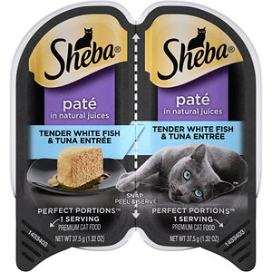Sheba Perfect Portions Grain-Free Tender Whitefish & Tuna Entree Cat Food Trays