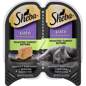 Sheba Perfect Portions Grain-Free Roasted Turkey Entree Cat Food Trays