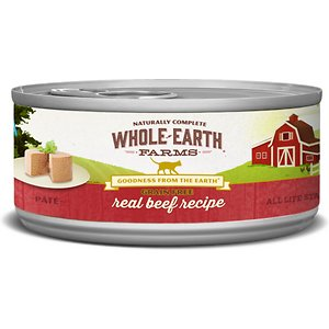 Whole Earth Farms Grain-Free Real Beef Pate Recipe Canned Cat Food