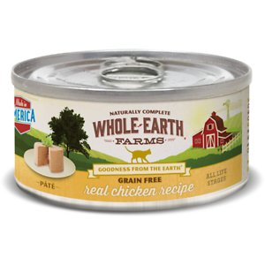 Whole Earth Farms Grain-Free Real Chicken Pate Recipe Canned Cat Food