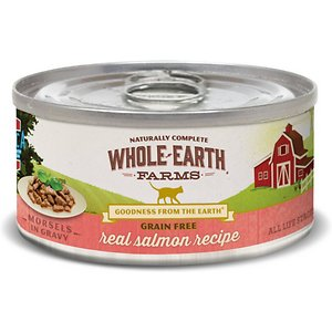 Whole Earth Farms Grain-Free Morsels in Gravy Salmon Recipe Canned Cat Food