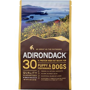 Adirondack 30% Protein High-Fat Recipe Chicken Meal & Brown Rice Puppy & Performance Dogs Dry Dog Food