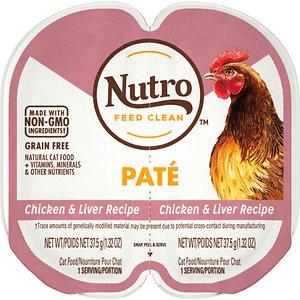 Nutro Perfect Portions Grain-Free Chicken & Liver Paté Recipe Cat Food Trays
