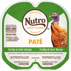 Nutro Perfect Portions Grain-Free Turkey & Liver Paté Recipe Cat Food Trays