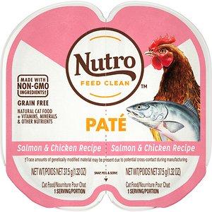 Nutro Perfect Portions Grain-Free Salmon & Chicken Paté Recipe Cat Food Trays