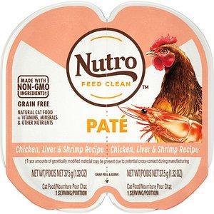 Nutro Perfect Portions Grain-Free Chicken Liver & Shrimp Paté Recipe Cat Food Trays