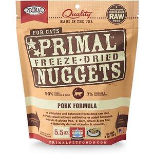 Primal Pork Formula Nuggets Grain-Free Raw Freeze-Dried Cat Food