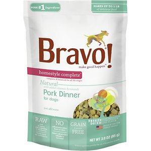 Bravo! Homestyle Complete Pork Dinner Grain-Free Freeze-Dried Dog Food