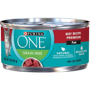 Purina ONE Beef Recipe Pate Grain-Free Canned Cat Food