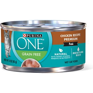 Purina ONE Chicken Recipe Pate Grain-Free Canned Cat Food