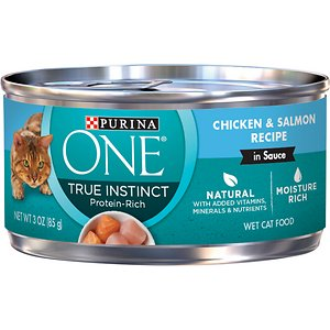 Purina ONE True Instinct Chicken & Salmon Recipe in Sauce Canned Cat Food