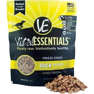 Vital Essentials Duck Entree Mini Nibs Grain-Free Freeze-Dried Dog Food