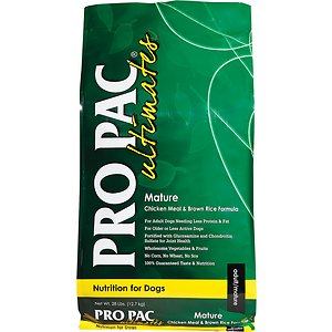 Pro Pac Ultimates Chicken Meal & Brown Rice Mature Dry Dog Food