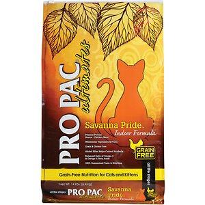 Pro Pac Ultimates Savanna Pride Chicken Grain-Free Indoor Dry Cat Food