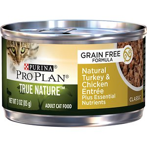 Purina Pro Plan Classic Adult True Nature Natural Turkey & Chicken Entree Grain-Free Canned Cat Food
