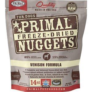 Primal Venison Nuggets Grain-Free Raw Freeze-Dried Dog Food