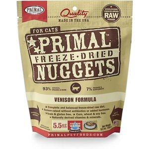 Primal Venison Nuggets Grain-Free Raw Freeze-Dried Cat Food