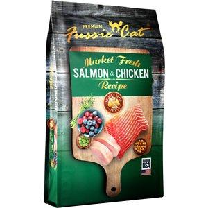 Fussie Cat Market Fresh Salmon & Chicken Recipe Grain-Free Dry Cat Food