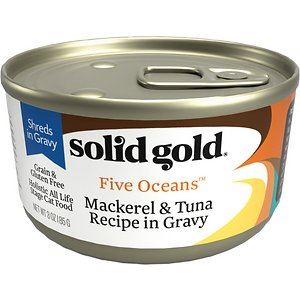 Solid Gold Five Oceans Mackerel & Tuna Recipe in Gravy Grain-Free Canned Cat Food