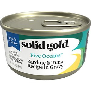 Solid Gold Five Oceans Sardines & Tuna Recipe in Gravy Grain-Free Canned Cat Food