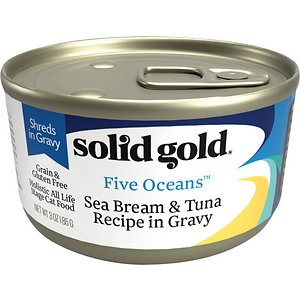 Solid Gold Five Oceans SeaBream & Tuna Recipe in Gravy Grain-Free Canned Cat Food