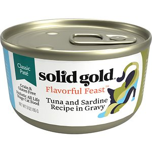 Solid Gold Flavorful Feast in Gravy with Real Tuna & Sardine Grain-Free Canned Cat Food