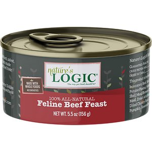 Nature's Logic Feline Beef Feast Grain-Free Canned Cat Food