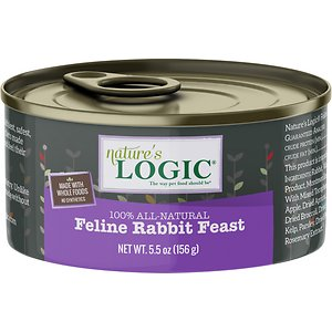 Nature's Logic Feline Rabbit Feast Grain-Free Canned Cat Food
