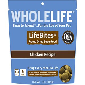 Whole Life LifeBites Chicken Recipe Grain-Free Freeze-Dried Cat Food