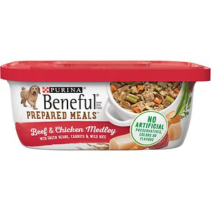 Purina Beneful Prepared Meals Beef & Chicken Medley with Green Beans