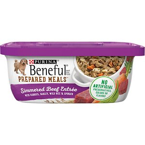 Purina Beneful Prepared Meals Simmered Beef Entree with Carrots
