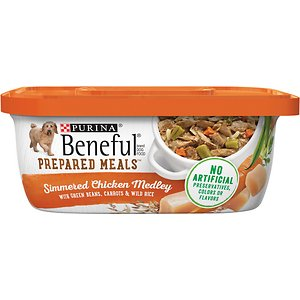 Purina Beneful Prepared Meals Simmered Chicken Medley with Green Beans