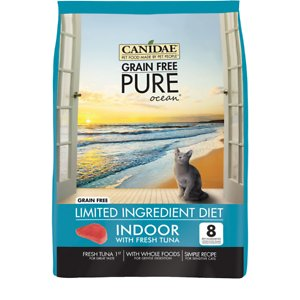 CANIDAE Grain-Free PURE Limited Ingredient Indoor Tuna Formula Dry Cat Food