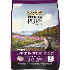 CANIDAE Grain-Free PURE Limited Ingredient Trout Formula Dry Cat Food