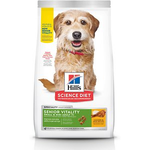 Hill's Science Diet Adult 7+ Senior Vitality Small & Mini Chicken & Rice Recipe Dry Dog Food