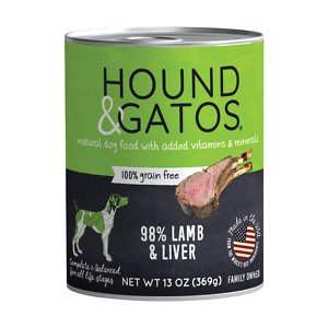 Hound & Gatos 98% Lamb & Liver Grain-Free Canned Dog Food