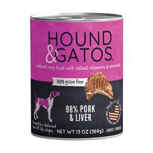 Hound & Gatos 98% Pork & Liver Grain-Free Canned Dog Food