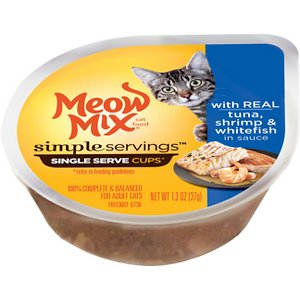 Meow Mix Simple Servings with Real Tuna