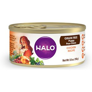 Halo Chicken Recipe Grain-Free Puppy Canned Dog Food