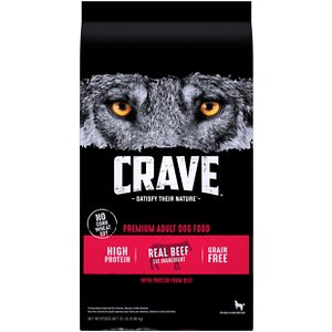 Crave High Protein Beef Adult Grain-Free Dry Dog Food