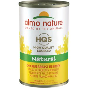 Almo Nature HQS Natural Chicken Breast in Broth Grain-Free Canned Cat Food
