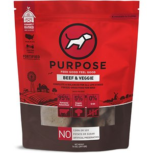Purpose Beef & Veggie Grain-Free Freeze-Dried Dog Food